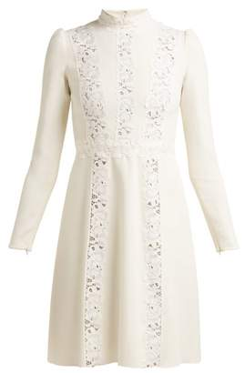 Giambattista Valli Lace Insert Cady Dress - Womens - Ivory