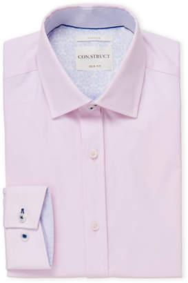 English Laundry Con.Struct Pink Slim Fit Dress Shirt