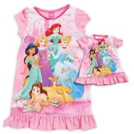 AME Sleepwear Little Girl's and Girl's Two-Piece Believe In Yourself Nightgown Set