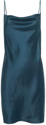 Fleur Du Mal Navy Cowl Neck Slip Dress