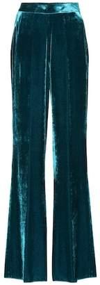 Etro Silk-blend velvet pants