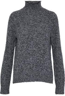 Equipment Marled Crochet Wool Turtleneck Sweater