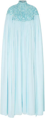 Christian Siriano Exclusive Embroidered Mock Neck Collar Caftan
