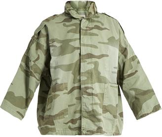 CURRENT/ELLIOTT The Fleet Admiral camouflage-print jacket $363 thestylecure.com