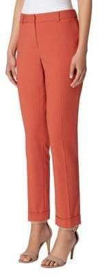 Tahari Arthur S. Levine Petite Shannon Cropped Cuff Pants