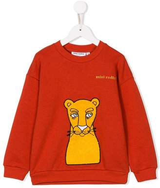 Mini Rodini cat-patch sweatshirt