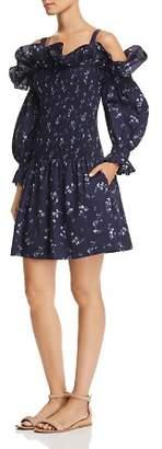 Rebecca Taylor Francine Cold-Shoulder Floral Dress