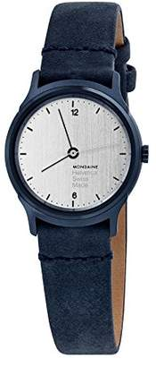 Mondaine 'Helvetica' Swiss Quartz Stainless Steel and Leather Casual Watch