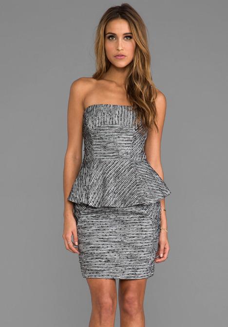 Funktional Frequency Strapless Peplum Dress