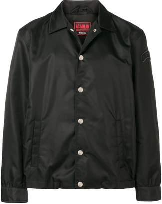 Diesel logo patch bomber jacket