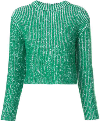 Protagonist two tone knitted jumper