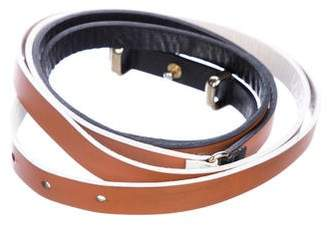 MAISON BOINET Leather Double Wrap Waist Belt