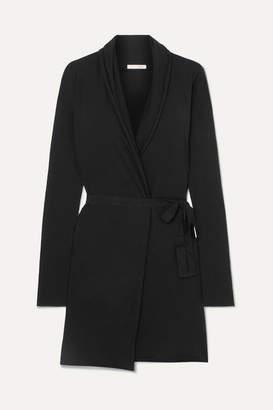 Skin - Essentials Pima Cotton-jersey Robe - Black