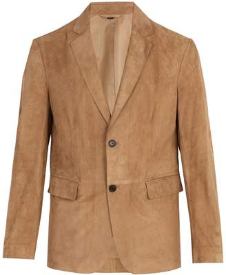 Dunhill Single-breasted suede blazer