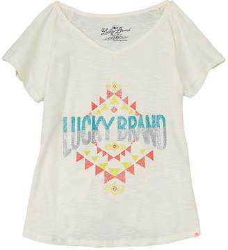 Lucky Brand Girls' Ikat Logo T-Shirt