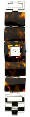 Eton Ladies Sq Tortoise Shell Bracelet Fashion Watch - 2701J- Brown