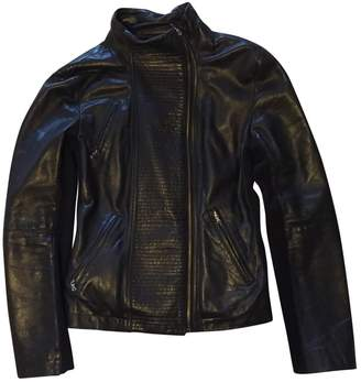 Kenneth Cole Black Leather Leather Jacket for Women