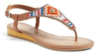 Women's Bp. Zandra Beaded V-Strap Sandal $59.95 thestylecure.com