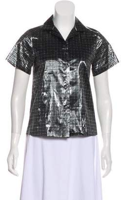 Marc by Marc Jacobs Short Sleeve Button-Up Top
