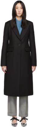 Tibi Black Wool Tuxedo Coat