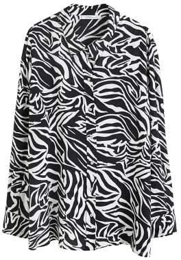 Violeta BY MANGO Flowy zebra printed shirt