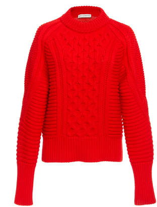 Mary Katrantzou Lance Cable Knit Jumper