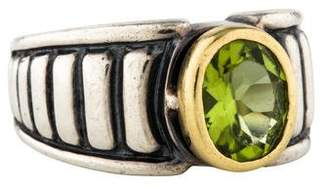 Lagos Two-Tone Peridot Cocktail Ring