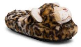 Dolce & Gabbana Furry Leopard Face Slippers