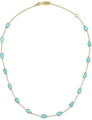 Ippolita Polished Rock Candy Mini 18-karat Gold Turquoise Necklace