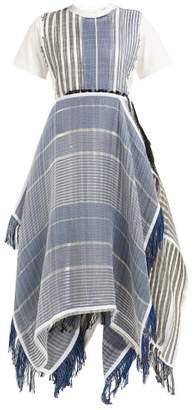 J.W.Anderson Striped Jacquard Handkerchief Hem T Shirt Dress - Womens - Blue Multi