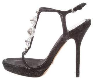 Christian Dior Embellished Ankle Strap Sandals