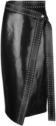 Alexander McQueen leather studded skirt