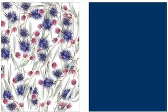 Ambrosia Flora Tea Towel Set of 2 Blue