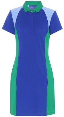 Tory Sport Colour-block Piqué polo shirt dress