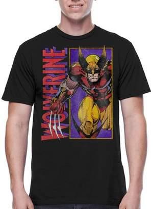Wolverine Super Heroes Panel Bust Men's Graphic T-shirt