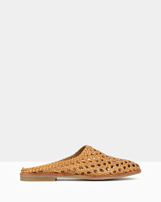 betts Tied Woven Leather Loafers