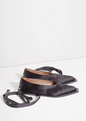 Marni Ankle Tie Flats $630 thestylecure.com