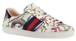 Gucci New Ace Flora Snake Sneakers