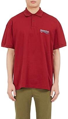 Balenciaga Men's Logo Cotton Polo Shirt $375 thestylecure.com
