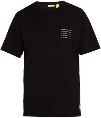 Moncler 7 FRAGMENT Backstage-print crew-neck cotton T-shirt