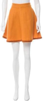 Miu Miu Wool Mini Skirt