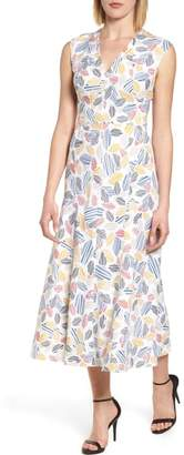Anne Klein Print Midi Dress