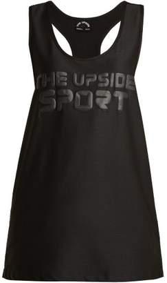 The Upside Winnie Logo Print Performance Tank Top - Womens - Black