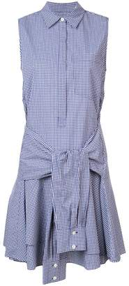 Derek Lam 10 Crosby Sleeveless Tie-Waist Shirtdress