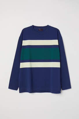 H&M Long-sleeved Top - Blue