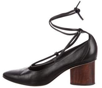 Zero Maria Cornejo Leather Round-Toe Pumps