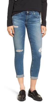 AG Jeans The Stilt Destructed Crop Skinny Jeans (13 Years Hunter Blue)
