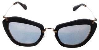 Miu Miu Wayfarer Mirror Sunglasses