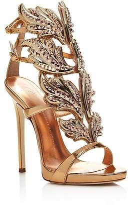 Giuseppe Zanotti Coline Cruel Embellished Wing High Heel Sandals $2,125 thestylecure.com