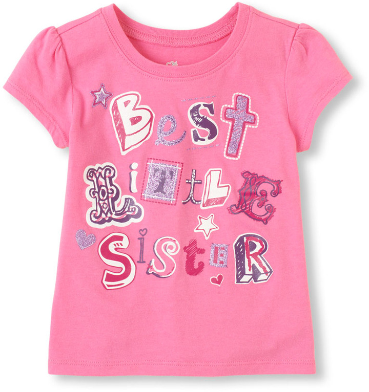 Children's Place Best lil' sis graphic tee